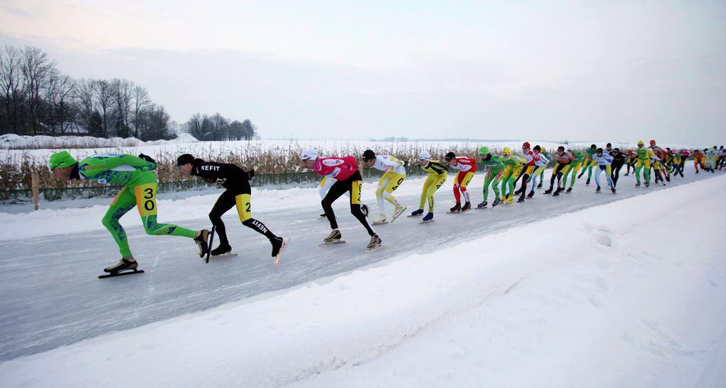 Rintje Ritsma opent Flevolands Schoolschaatsen
