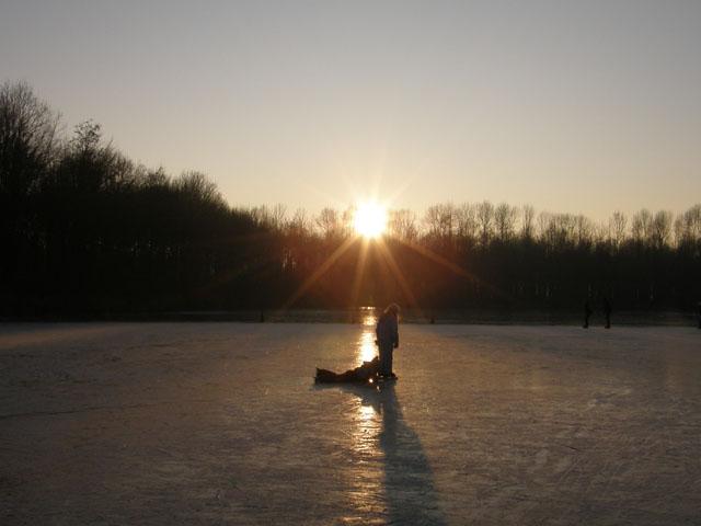 Jeugd wedstrijden op de ijsbaan