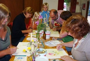 Workshop aquarelschilderen in Informatiecentrum